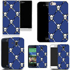 hard durable case cover for most mobile phones - blue skull pictoral