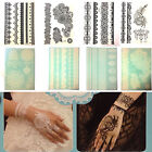 Lace transfer White Black henna Hand Henna Stencil Henna Art Temporary Tattoo