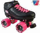 Riedell R3 2015 Pink Quad Roller Derby Speed Skates with 2 Pair Laces Pink & Blk