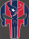 """Houston Texans Punisher Sticker Decal Emblem Car Truck Made in USA 5""""-11"""" HTP1 on eBay"""