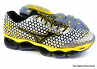 Mizuno men Wave Prophecy 3 running shoes - White / Black / Cyber Yellow $210