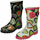 WHOLESALE Girls Wellington Boots / Sizes 10x3 / 16 Pairs / HEART