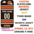 Cleveland Browns Phone Case Cover Your Name & Number iPhone 6 Samsung 6 Edge 7