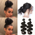 Pre Plucked Body Wave 360 Lace Frontal Closure With 2Bundles /200G Virgin Hair