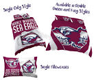 Manly Sea Eagles 2017 NRL Quilt Cover Doona Single Double Queen King Pillowcase