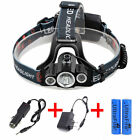 35000LM 3x T6 LED Headlamp Rechargeable 18650 Headlight Head Lamp Skywolfeye USA