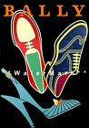 Bally 1952 Neon Shoes Vintage Poster Print Fashion Advertisement Free US Post