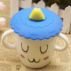 Anti-dust Suction Leakproof Silicone Coffee Mug Lid Fruit Glass Cup Cover