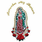 Baby Christening Baptism White Blanket Gold Silver Embroidery Lady of Guadalupe