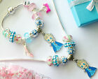 Set Elsa Bracelet & Necklace cartoon pendant childrens jewellery set choose size