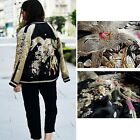 BLOGGER VTG IN THE CLEAR FLORAL EMBROIDERED REVERSIBLE DRESS BOMBER JACKET COAT