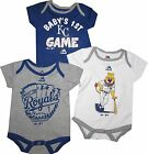 "Kansas City Royals KC 3pc Creeper Set ""Small Fan"" Infant Baby Bodysuit Mascot"