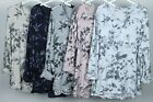 New Ladies Italian Lagenlook Quirky Floral Print Fine Knit Long sleeve Top Tunic