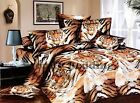 California King TIGER 3pc 100% Cotton Luxury Duvet Cover and Pillowcases