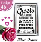 PERSONALISED WEDDING SIGN CHEERS TO LOVE HAPPILY EVER AFTER TABLE CHALKBOARD