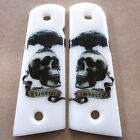 1911 Grips Fit Colt Kimber Clone Taurus Skull N Crow Custom Resin Grip Full Size