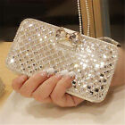 Bling Diamond Rhinestone Bow Wallet PU Leather Stand Case Cover For ZTE Phones