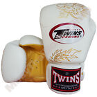 Twins Special Muay Thai Boxing Fancy Gloves FBGV-6G-WH White 8-10-12-14-16 oz.