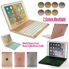 "For iPad Pro 9.7"" 7 COLOR Backlit Bluetooth Keyboard Smart Case Book Work Cover"