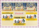 Sing the Movie Personalised Children's Birthday Party Invitations Thank You Card