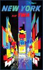 New York City 1957 Times Square TWA Airline Vintage Poster Print