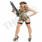 Be Wicked Sexy3 Piece Army Brat Military Costume Halloween Party NEW