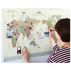 World Map Travel Routes Decoration Wall Decor Rewritable Antique Vintage Poster