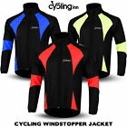 Mens Cycling Jacket Winter Thermal Fleece Windproof Windstopper Long Sleeves