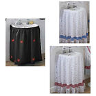 Assorted lace and voile sink surrounds / under skirts, all styles 130x79cm SALE