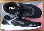 "FILA ""GAMBLE"" WOMEN'S BLACK/WHT LITE COOL LEATHER & MESH RUNNING SHOES LIST $55"