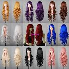 New Fashion Women's Multi-Color Long Curly Wavy Anime Cosplay Party Wigs 80cm32""
