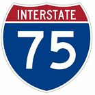 Interstate 75 Sticker Decal R923 Highway Sign