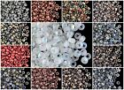 CHOOSE COLOR! 10gr 8/0 Czech Glass Seed Beads Etched (approx.350pcs) $4.43 USD