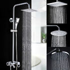 "High Quality Large 8"" Chrome  Bathroom Stainless Rainfall Overhead Shower Head"