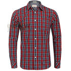 TOMMY HILFIGER MEN'S ALBERT CHECK SHIRT RED SLIM FIT Size S,M,L,XL,XXL Was 65.00