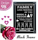 PICK A SEAT NOT A SIDE SIT TOGETHER PERSONALISED WEDDING SIGNS MR & MRS -