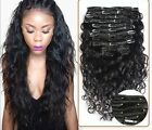 120g/8pcs 7A Brazilian Curly Wave Human Hair Extensions Wave Virgin Clip In Hair