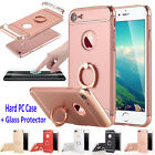 Stand Shockproof Hard PC Case Cover for iPhone 7 6S Plus +Glass Screen Protector