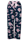 Navy Cherry Blossoms Lounge Pants