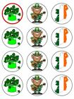 Ireland Irish  Edible Cake Toppers Wafer Icing cupcake x 12 Decoration