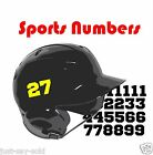 "Batting Helmet Sport Vinyl Decals - 26 Numbers - Select Color & Size 1"" thru 4"""