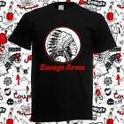 New Savage Arms Firearms Gun Logo Men's Black T-Shirt Size S to 3XL image