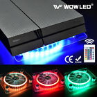 USB RGB LED PS4 Cooler Cooling Fan Pad Stand with Wireless Remote Controller