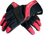 Weise Black Red Fusion Leather Nylon Waterproof Motorcycle Gloves RRP £34.99!!