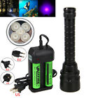Внешний вид - 395nm 5x XPE UV LED Scuba Diving Flashlight Torch 18650 Light Warterproof 100m