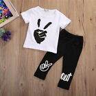 Toddler Infant Kids Baby Boys Outfits Clothes T-shirt Tops+Long Pants 2PCS Sets