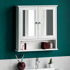 Wall Mounted Cabinet Bathroom White Single Double Door Vanity Storage Cupboard <br/> NEXT DAY DELIVERY IF ORDERED BY 2PM - CHEAPEST ON EBAY