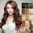 """16""""-24"""" Wavy Clip In High Ponytail Wrap Around 100% Real Human Hair Extension"""