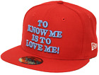 New Era 59Fifty Linus To Know Me Is To Love Me Red Fitted Cap