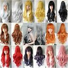 "New Fashion Womens Long Wavy Curly Anime Cosplay Party Wigs 80cm/32"" Multi-Color"